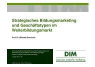 Strategisches Bildungsmarketing und ... - wbv-Fachtagung