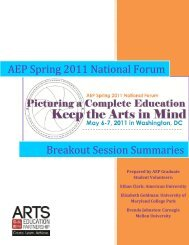 AEP Spring 2011 National Forum - Arts Education Partnership
