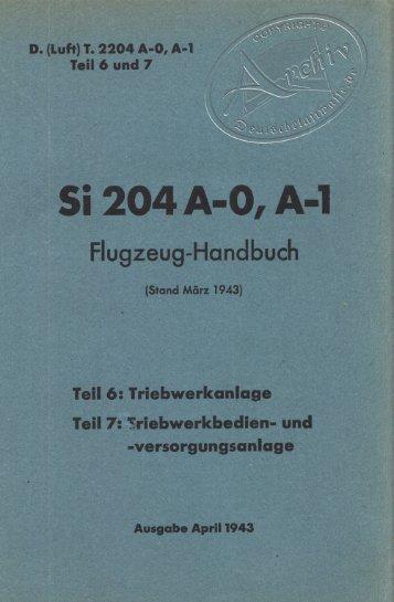 Si 204 A-O, A-'l - Deutsche Luftwaffe