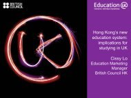 Hong Kong's new education system: implications for studying in UK ...