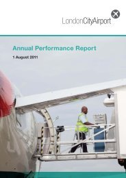 Annual Performance Report 2010 - London City Airport