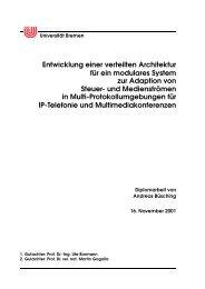 Entwicklung einer verteilten Architektur für ein ... - AG Rechnernetze