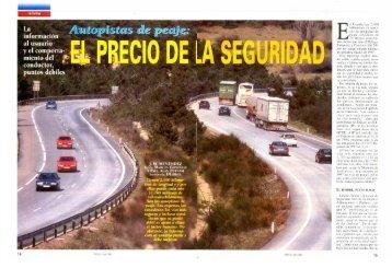 Autopistas de peaje: dónde está, cuál es su accidentalidad...