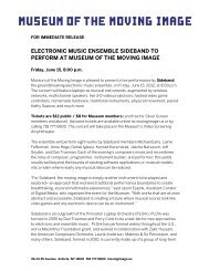 Electronic music ensemble Sideband to perform at Museum of the ...