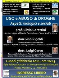 """""""Nerviano Dibattiti """" - Scienza e Società - 7 febbraio 2011, ore 20:45 ..."""
