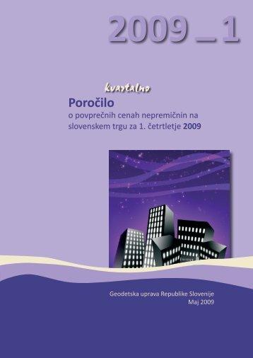 poročilo o povprečnih cenah nepremičnin na slovenskem ... - E-prostor