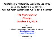 The Money Show Chicago October 3-‐5, 2012 - Drolet & Associates ...