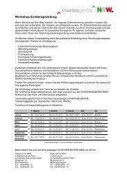 Workshop Existenzgründung - WFO Wirtschaftsförderung ...