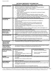 Action & Notifications Checklist - Infection Control