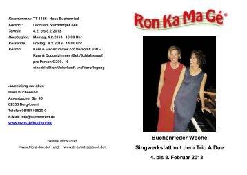 Flyer zum Herunterladen - Trio A Due
