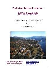 Program with presentations - Høgskolen i Molde