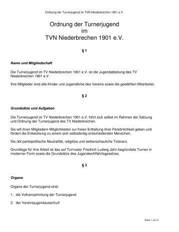 Ordnung der Turnerjugend im TVN Niederbrechen 1901 e.V.