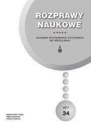 Rozprawy Naukowe 34 - Akademia Wychowania Fizycznego we ...