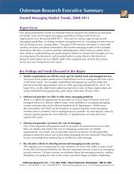 Hosted Messaging Market Trends, 2008-2011 - Osterman Research