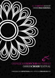 Official Program - Ohrid Choir Festival