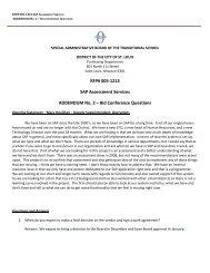 RFP# 005-1213 SAP Assessment Services ADDENDUM No. 2 – Bid ...