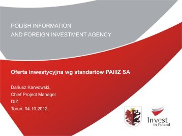 Oferta inwestycyjna wg standartów PAIiIZ SA - coi.kujawsko ...