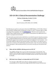ICD-10-CM: A Clinical Documentation Challenge - American ...