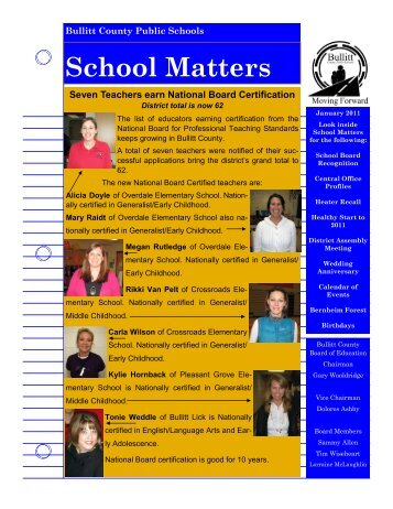 School Matters (January 2011) - Bullitt County Public Schools