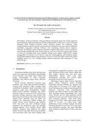 audit sistem informasi/teknologi informasi - Jurnal Sistem Informasi