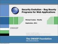 Bug Bounty Programs for Web Applications - OWASP AppSec USA ...