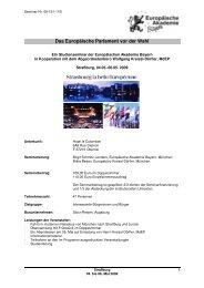 Das Europäische Parlament vor der Wahl - Europäische Akademie ...