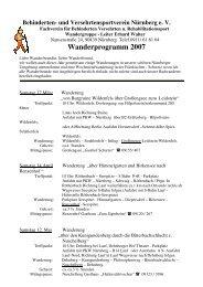 Wanderprogramm 2007