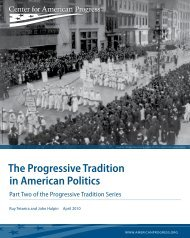 The Progressive Tradition in American Politics - Center for American ...