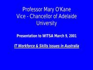 Professor Mary O'Kane Vice - Chancellor of Adelaide ... - WITSA