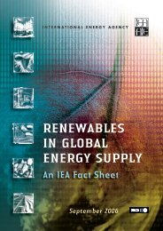 RENEWABLES IN GLOBAL ENERGY SUPPLY - Austria Solar
