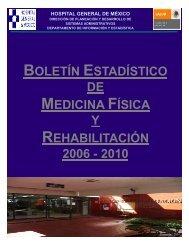 Boletín Estadístico del Servicio de Medicina Fisica y Rehabilitación ...
