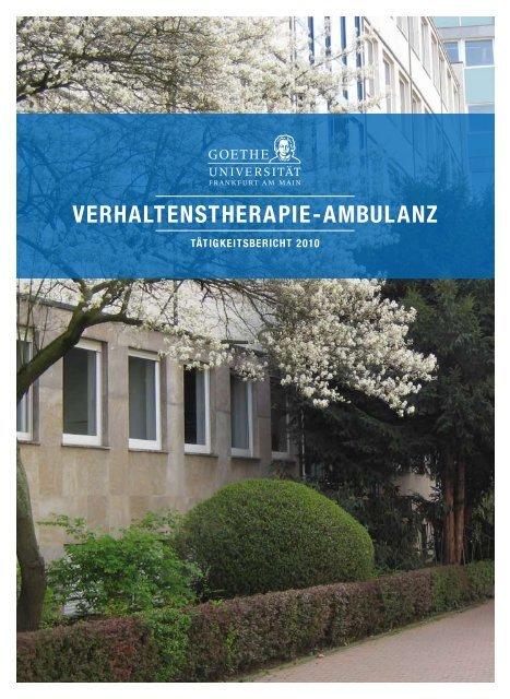 Verhaltenstherapie-ambulanz - Ausbildungsprogramm Kinder- und ...
