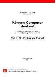 Können Computer denken? Teil 1: KI - Didaktik der Informatik