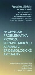 hygienická problematika provozu zdravotnických zařízení a ...