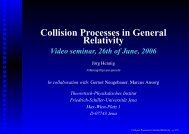 Collision Processes in General Relativity