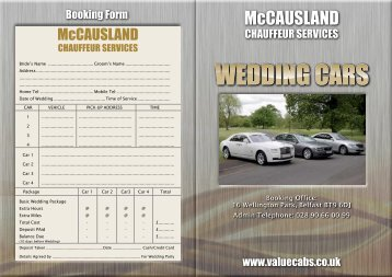 Wedding Cars Value Cabs