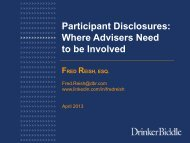 Participant Disclosures: Where Advisers Need to be Involved - Fi360