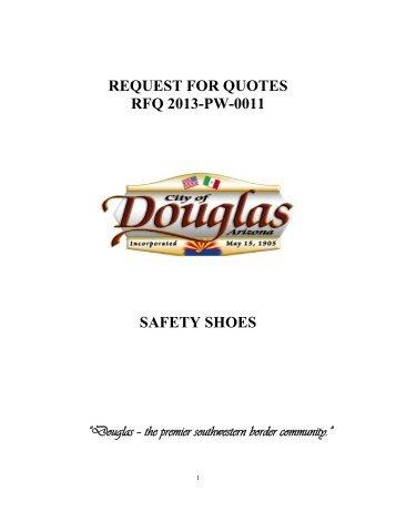 Safety Shoes - City of Douglas Arizona