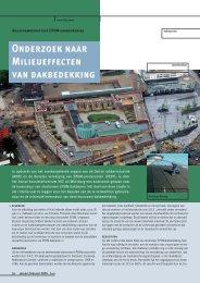 Onderzoek naar Milieueffecten van dakbedekking - Verenigde ...