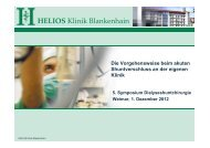 HELIOS Klinik Blankenhain - Dialyseshunt