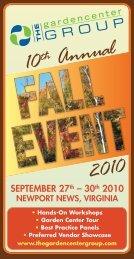 2010 fall event - The Garden Center Group