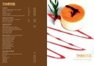 DESSERT AND COFFEE MENU - Thai Edge