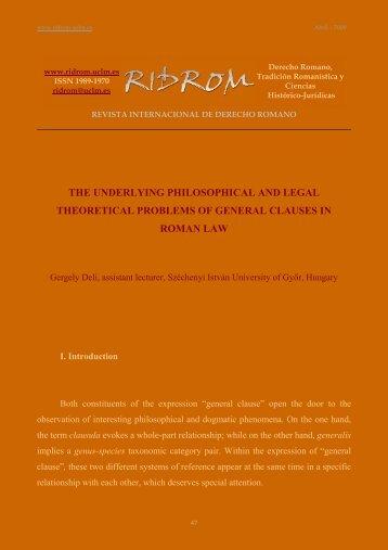 View - revista internacional de derecho romano-index