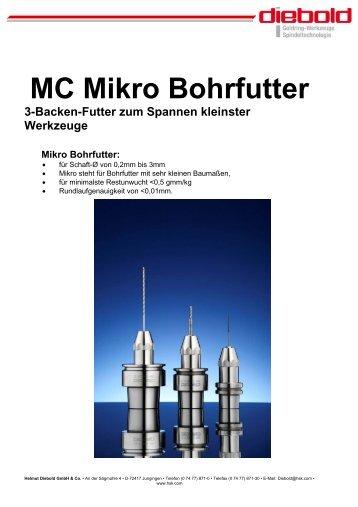 MC Mikro Bohrfutter - Diebold HSK