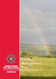 Carbon Management Plan - Northern Ireland Fire & Rescue Service