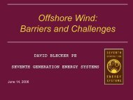 David Blecker, Seventh Generation Energy Systems