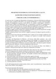 Bando Infermieristica febbraio 2013 - Università degli Studi del Molise