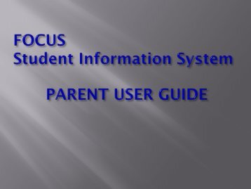 FOCUS Student Information System - Monte Vista Christian School