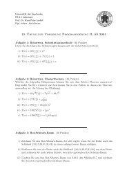 10. ¨Ubung zur Vorlesung Programmierung II, SS 2004