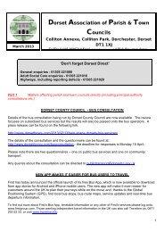 Dorset Association of Parish & Town Councils - Buckhorn Weston ...